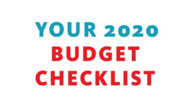 Your 2020 Budget Checklist